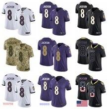Новинка года. Высококачественная Мужская футболка Baltimore Lamar Jackson Ravens