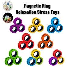 Bracelet magnétique Anneau Décompresser Jouet Anneau Magique Accessoires Outils jouets De Décompression Livraison Directe stress cube Jouets détente stress Anneaux