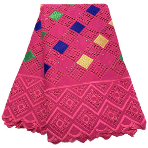 Image 3 - NIAI حار بيع 100% القطن الأفريقي قماش دانتيل جاف النيجيري أقمشة الدانتيل 2020 جودة عالية الفوال السويسري في سويسرا XY2868B 1