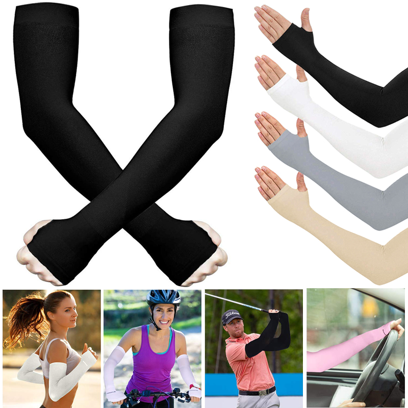 6 Colors Cycling Bike Bicycle Arm Warmers Cuff Sleeve Cover UV Sun Protection E1
