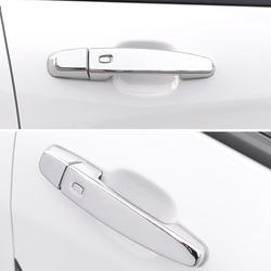 Apto para chevrolet blazer 2019 2020 acessórios do carro auto abs chrome carbono exterior porta alça tigela capa guarnição com buraco na fechadura 4 pçs