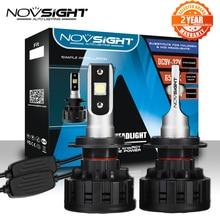 NOVSIGHT H4 H7 H11 H1 H3 9005 9006 araba LED far lambaları Hi Lo işın 60W 18000LM 6500K otomatik far sis ampul DC12v 24