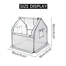 New 90x90x90cm Mini Greenhouse Kit Home Outdoor Flowers Plants Gardening Room Wi