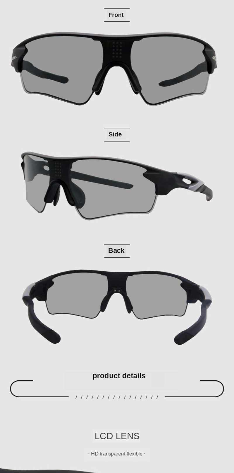 TR90 Driving Photochromic Polarized Sunglasses Men Travel Ultra-Light Chameleon Glasses CLOVER JEWELLERY