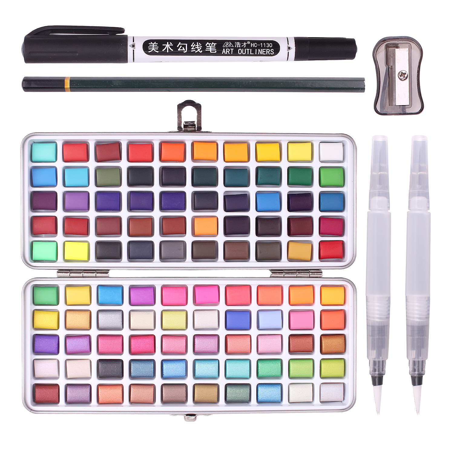 6-100 Colors Solid Watercolor Paint Set For Kids Beginner Adults Drawing Painting Coloring Art Supplies