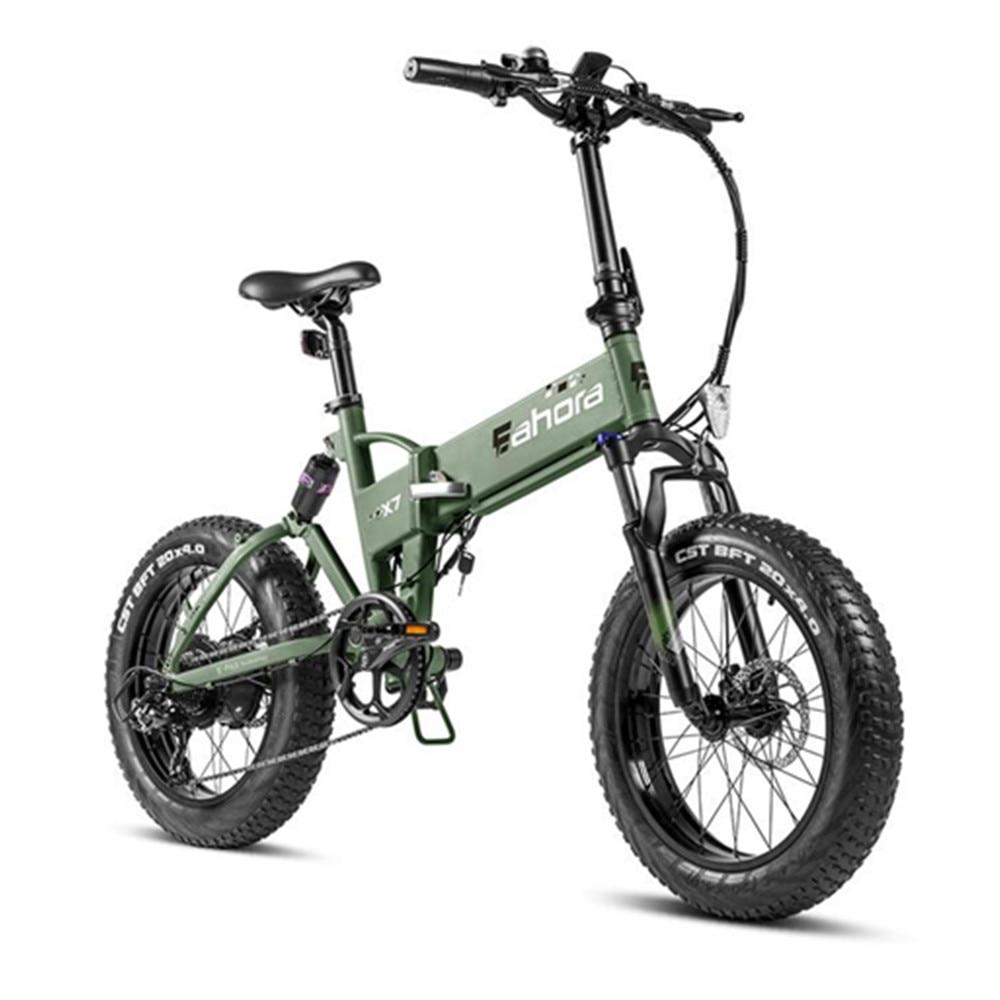 2020 48v500w Ebike Falten Elektro-bike über 100 miles faltbare Fahrrad mit Aufgeladen & Regenerative System