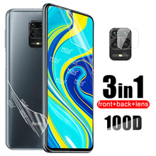 100D Hydrogel Soft Film For Xiaomi Redmi Note 9s 8 9 Pro Max 8T Note8T Note9S Not 9 S Back Screen Protector Camera Lens Glass