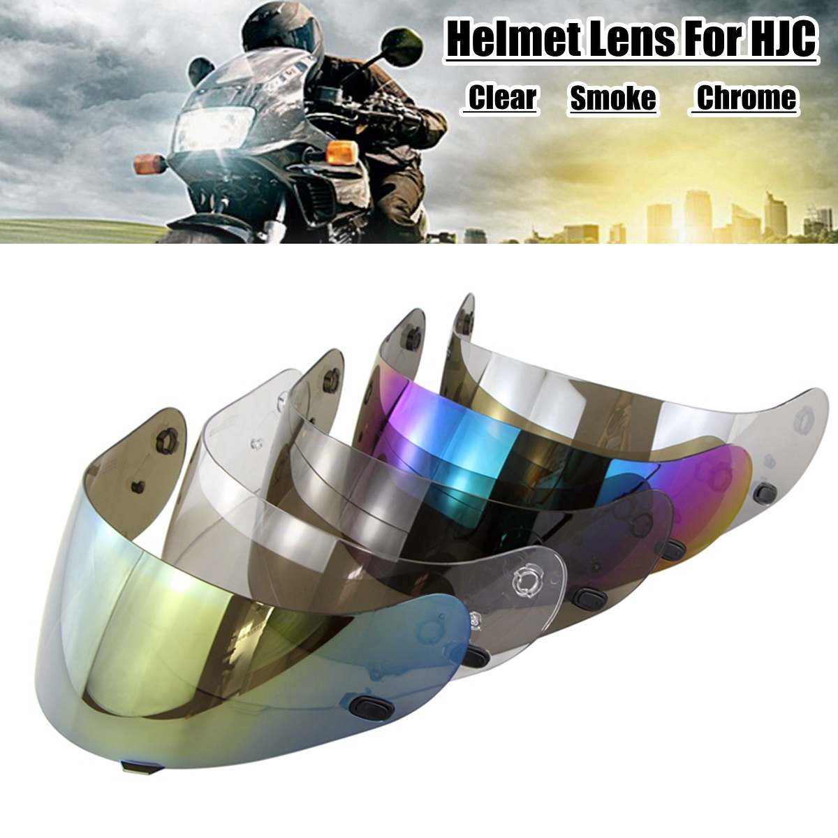 Motorcycle Helmet Lens Visor Helmet Glasses For HJC CL-16 CL-17 CS-15 CS-R1 CS-R2 CS-15 FG-15 TR-1