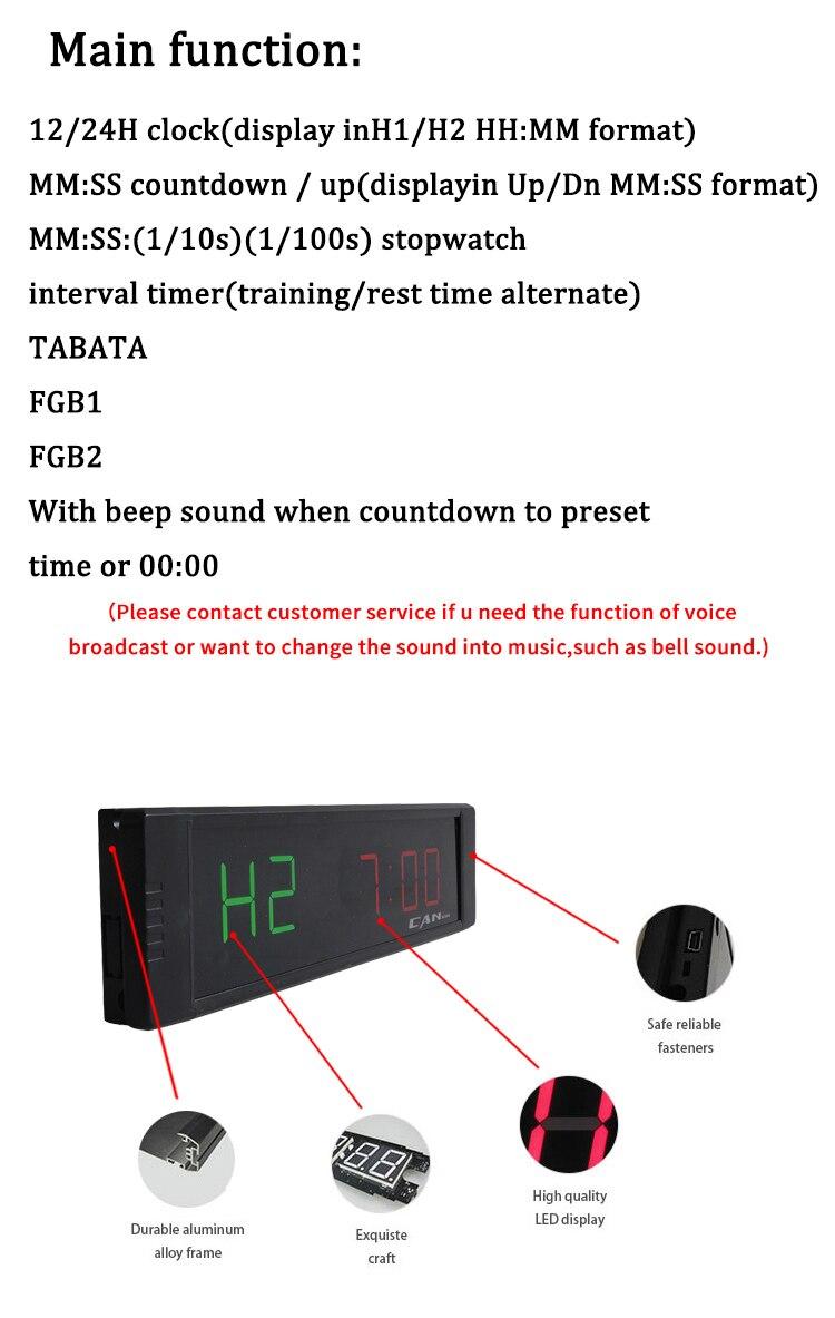 Ganxin novo produto programável temporizador de fitness