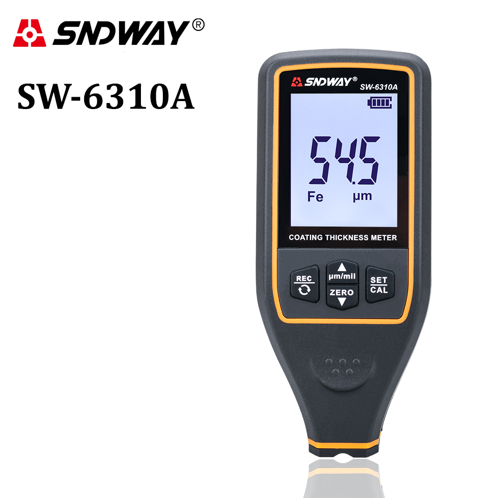 Digital Paint Coating Thickness Gauge Car Detector Refinishing Paint Micrometer Automotive Coating Test High-Precise Probe Meter