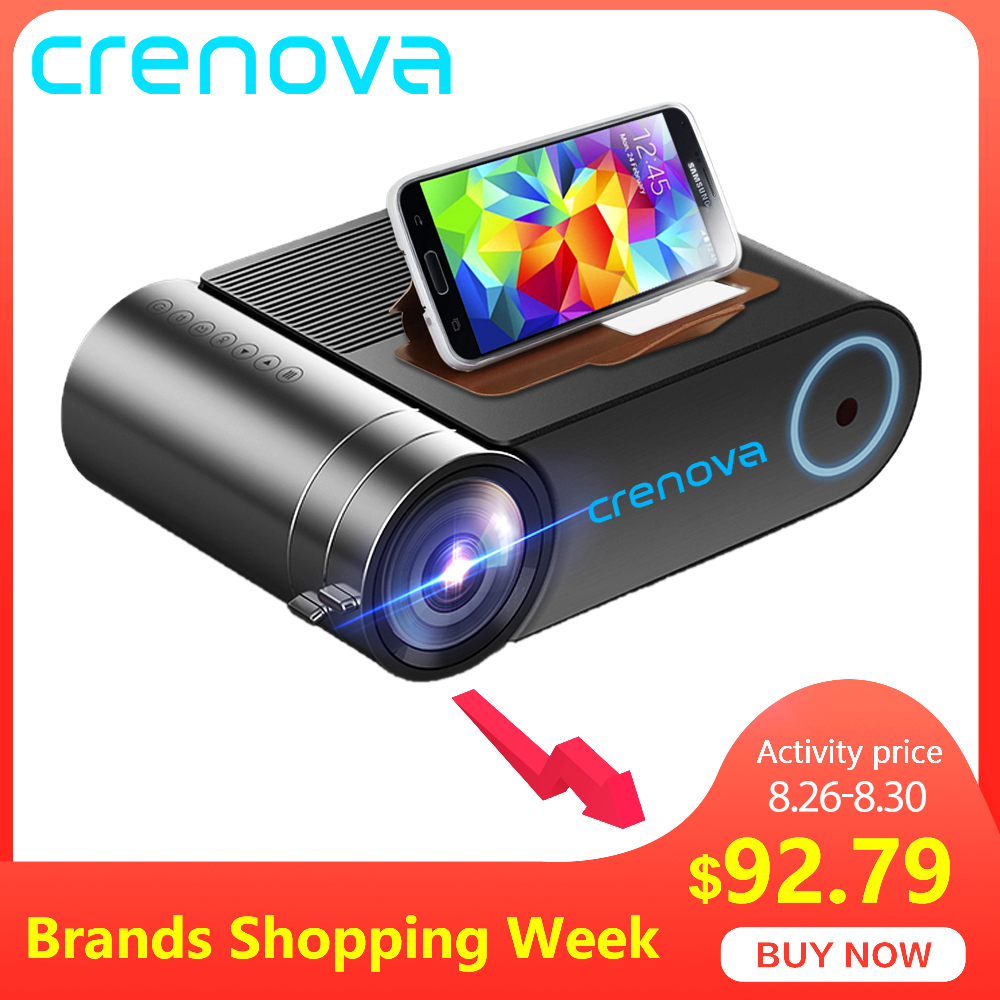 CRENOVA Led-Projector Beamer VGA Wifi Multi-Screen HDMI 720P 1080P Wireless Newest