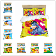 Disney Home Spinning Animation Winnie The Pooh Bedding Set Children Bedroom Decoration Down Quilt Cover Pillow Cover Quilt Cover