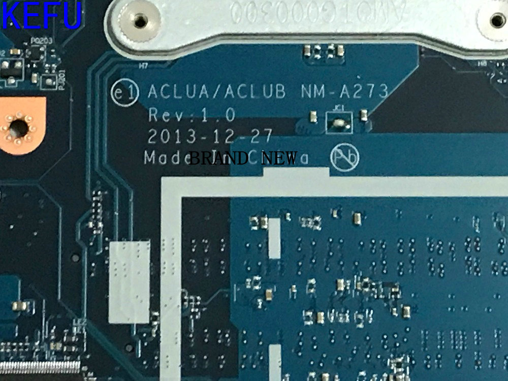 FAST SHIPPING.NEW ..ACLUA / ACLUB NM-A273 <font><b>Z50</b></font>-<font><b>70</b></font> Laptop <font><b>motherboard</b></font> for <font><b>Lenovo</b></font> <font><b>Z50</b></font>-<font><b>70</b></font> MAINBOARD ,GPU 820M 2GB,CPU celeron 3558u image