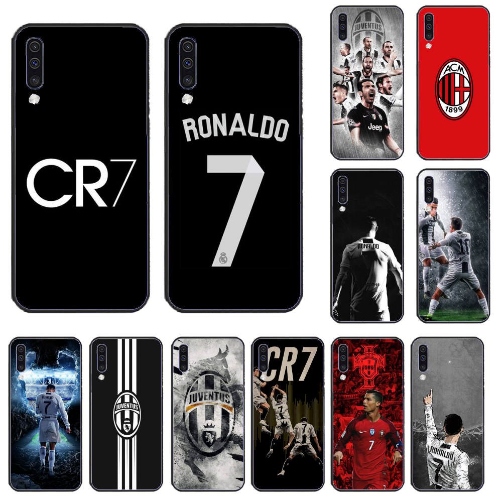 ristiano Ronaldo CR7 TPU Soft Silicone Cover Soft black Phone Case For Samsung A50 60 70 A6 A8 2018 plus  A7 A9 750 920