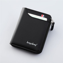 Men's Genuine Leather Short Wallet Fashion Luxury Brand Coin Purse Driver's License Bag Purse For Men card