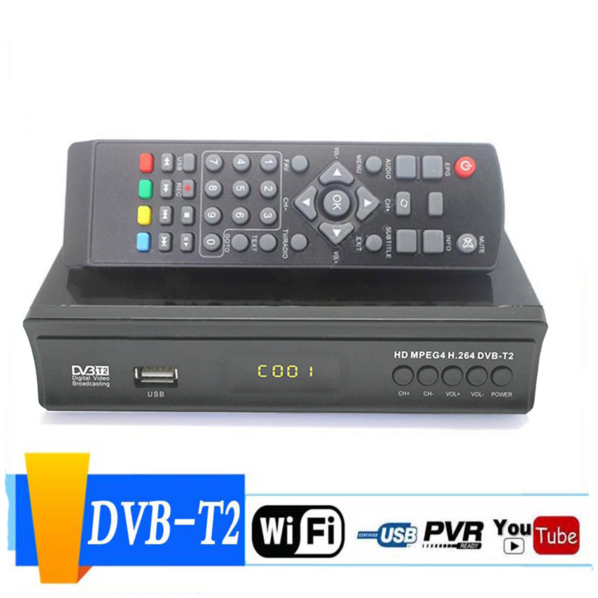 DVB-S2 HD 1080P TV Satellite Receiver Digital TV Converter Box Video Decoder Set Top Box With Remote Control, HDMI Coaxial