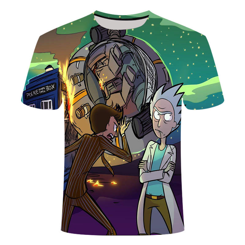 Anime rick morty t-shirt Cool TV Tee Men Tees Shirt Couple Geek BoJack Horseman Short Sleeve T Shirt Asian size s-6xl