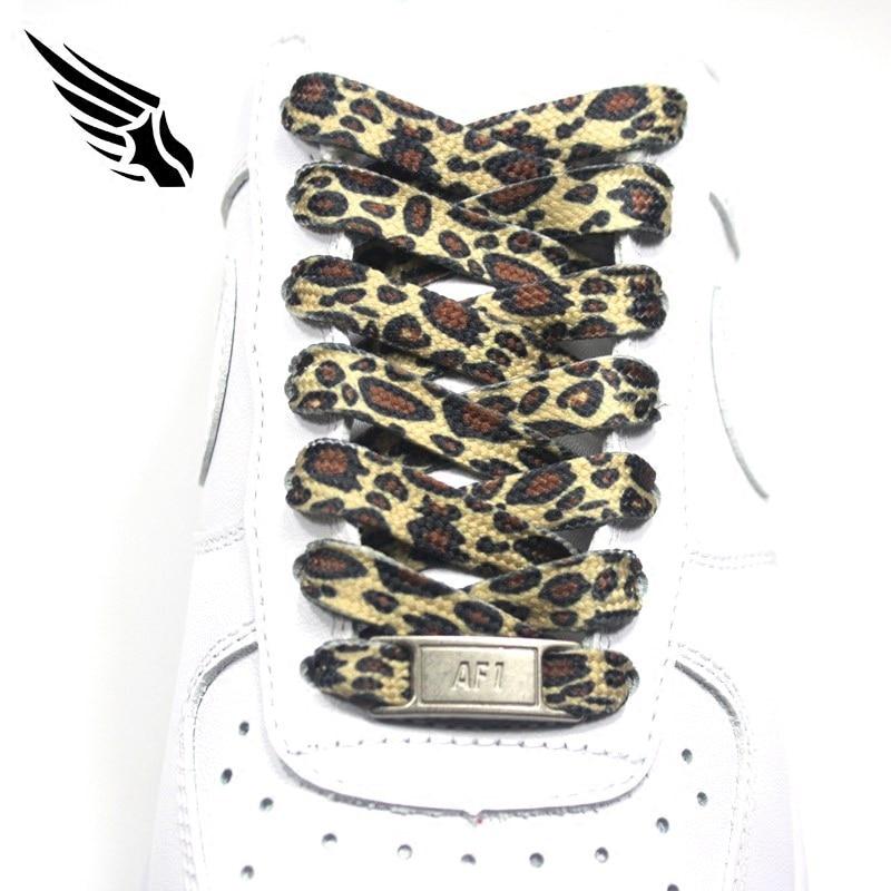 60/80/100/120/140/160/180cm Leopard Shoelace Fashion Sneaker Shoelaces Flat Leopard Print Shoe Laces Athletic Shoelace