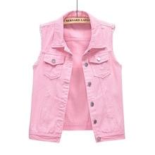 Vests Basic Jackets Denim Vest Woman Coletes Jacket Coats Womens Clothing Outerwear Casual Solid Pocket Female Ladies Sleeveless