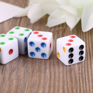 10pcs/set D6 Six Sided Spot Dice Square Opaque Dices Role Playing Game for Party Q84C