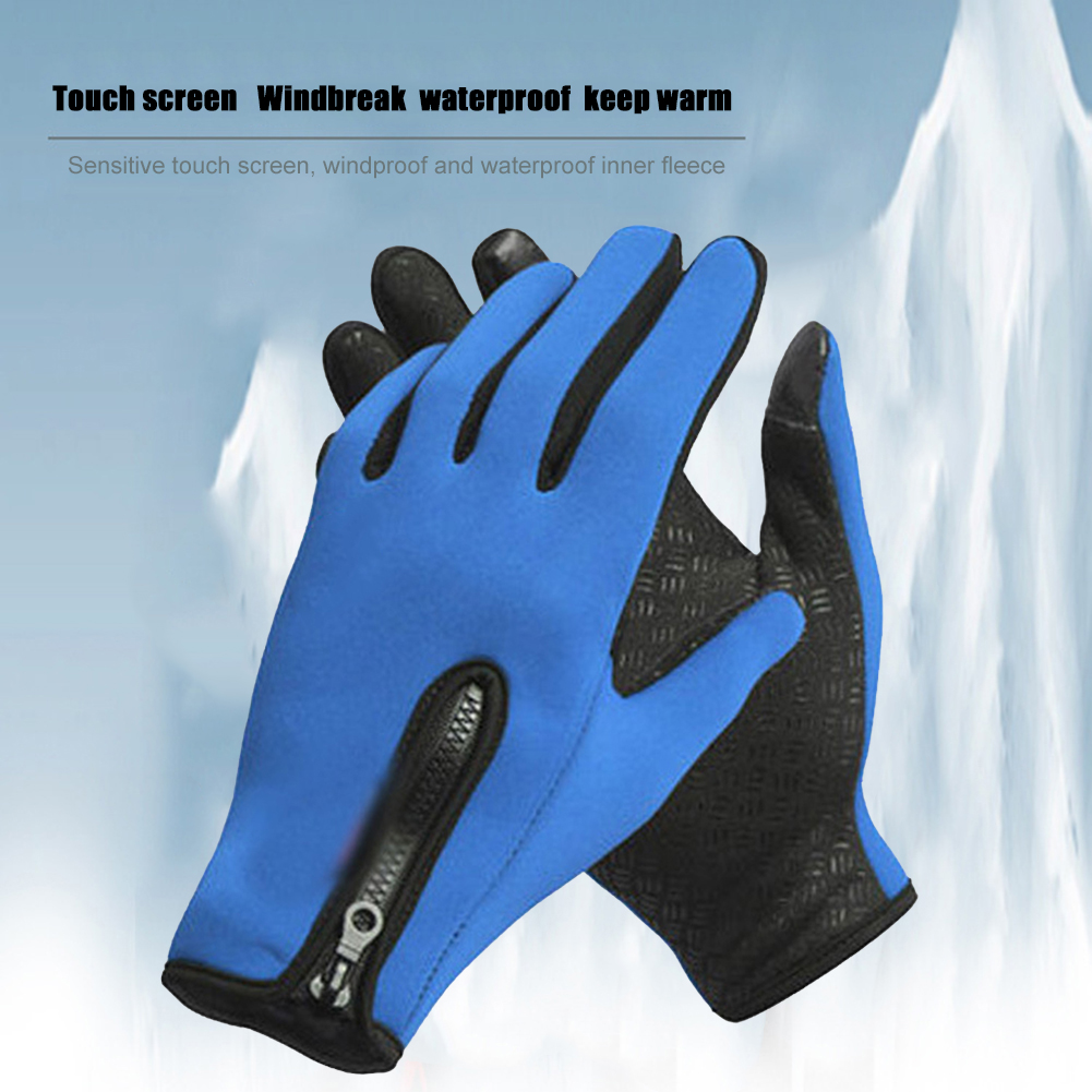 Bright Cycling Gloves Touchscreen Full Finger Winter Outdoor Ski Fleece Windproof Glove Portable Waterproof Cycling Elements Attractive Designs;