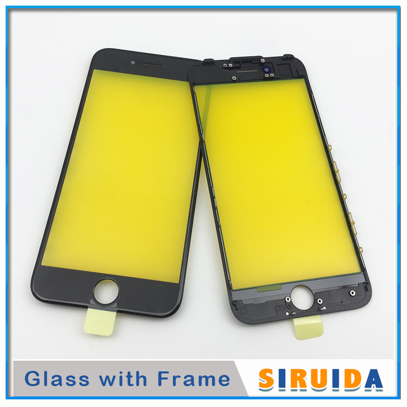 Image 2 - 10pcs AAA For iPhone 6 6P 6s 7 8 Plus 8Plus 5S 5 LCD Touch Screen Digitizer Outer Glass Lens With Frame Replacement PartsPhone Screen Protectors   -