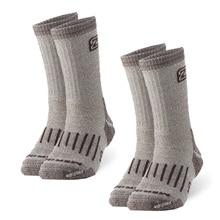 2 pares meias de lã merino, zealwood unisex caminhadas trekking tripulação meias térmicas quentes meias de inverno