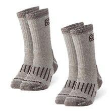 2ペアメリノウールの靴下、zealwoodユニセックスハイキングトレッキングクルーソックス熱暖かい冬の靴下