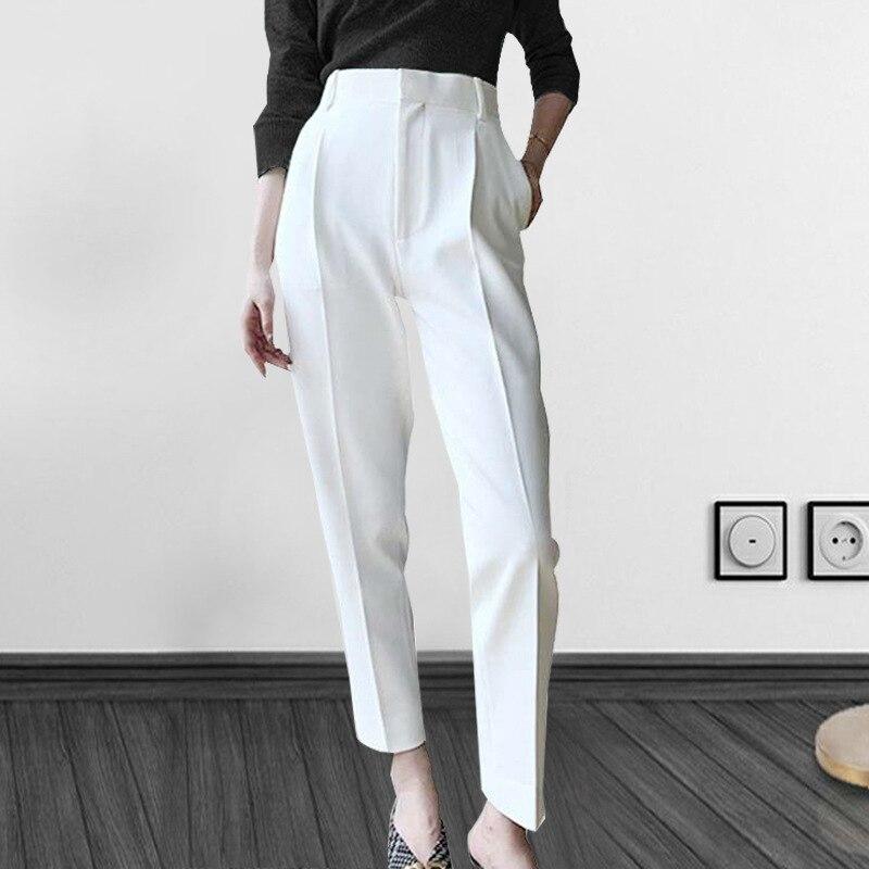 High Waist Pants Women Spring Autumn Ankle Length Women Casual Suit Pencil Pants Trousers