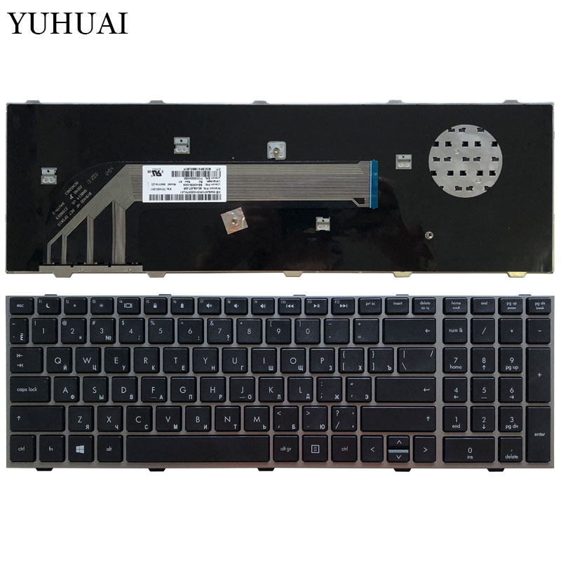 New Russian Laptop Keyboard For HP Probook 4540 4540S 4545 4545S 4740 4740S With Silver Grey Frame RU Keyboard