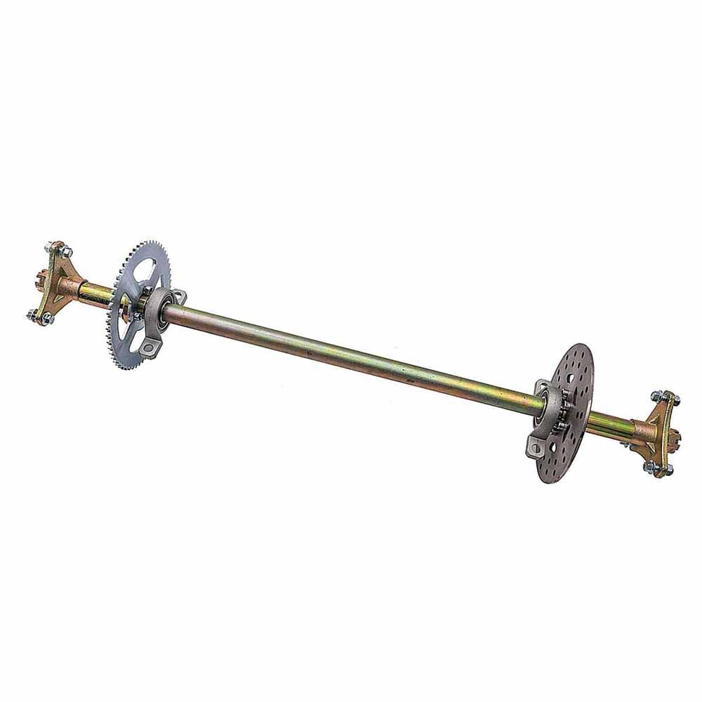 """29/"""" Rear Axle Kit Brake Caliper #35 Sprocket 6/"""" Wheels for Go Kart Drift Trike"""