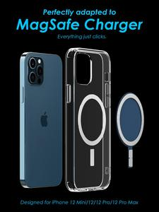 New Suitable For Apple 12mini Transparent Mobile MagSaf Case IPhone12Pro Wireless Magnetizing Silicone Protective Cover In Stock