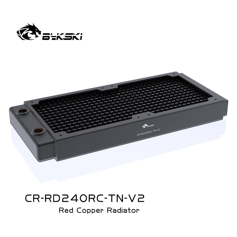 Bykski 240 мм Медь радиатор около 30 мм толщиной компьютер воды охлаждающей жидкости радиатор для 12 см вентиляторов ПК, CR-RD240RC-TN-V2