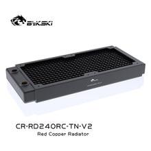 Radiatore di rame di Bykski 240mm dissipatore di calore liquido di raffreddamento ad acqua spesso del Computer di circa 30mm per i fan del PC di 12cm, CR-RD240RC-TN-V2