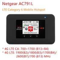 Desbloqueado netgear ac791l jetpack ac 791s ac1200 mini 3g 4g roteador wi-fi slot para cartão sim 4340mah otg pequeno portátil usb power bank ch
