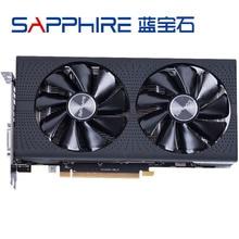 SAPPHIRE RX 580 4GB grafik kartları 256Bit GDDR5 kartı için AMD RX 500 serisi kartları RX580 4GB displayPort HDMI DVI kullanılan