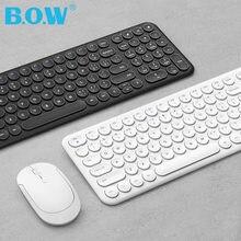 Bow перезаряжаемая клавиатура и мышь usb 24 ГГц Беспроводные