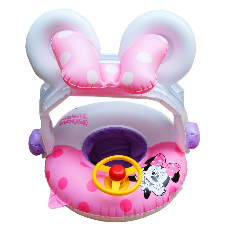 Rooxin Baby Swimming Ring With Sunshade Pool Float Inflatable Swimming Circle Floating Baby Seat Swimming Pool Toys Summer Party
