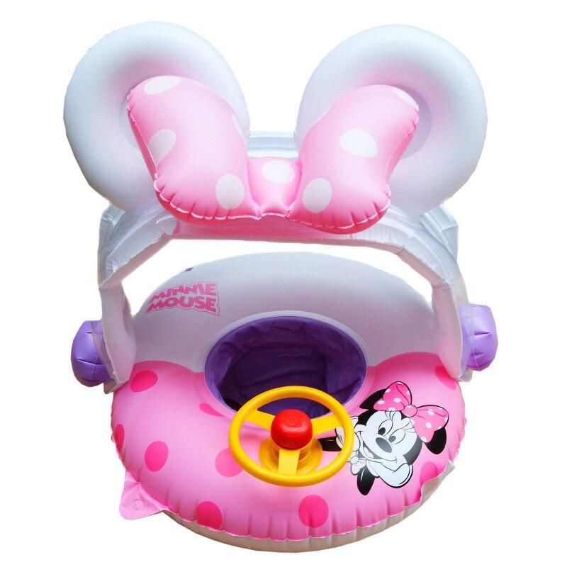 Rooxin bébé anneau de natation avec parasol piscine flotteur gonflable cercle de natation flottant bébé siège piscine jouets fête d'été
