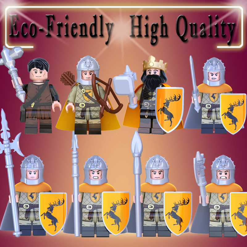 Game Of Thrones Stannis Baratheon Spear Sword Infantry Archers Ice And Fire Building Blocks Action Figure Toys Kid Gift KT1029