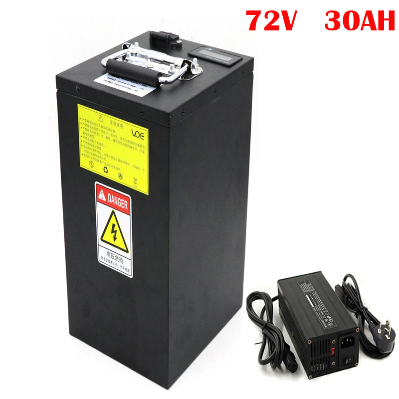 No taxes OEM 72V 3000W Electric Scooter Akku 72V 30Ah Li-ion Battery Pack with 84V 5A Charger image