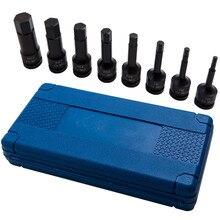 """8 stück Hex Key Set 1/2 """"Stick Auswirkungen H5 6 8 10 12 14 17 19mm Buchse für allen Werkzeuge"""