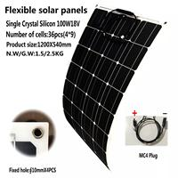 Solar Panel 100w 18V Volt Panel Solar Flexible Monocrsytalline Solar Cell For Car Marine Solar Battery