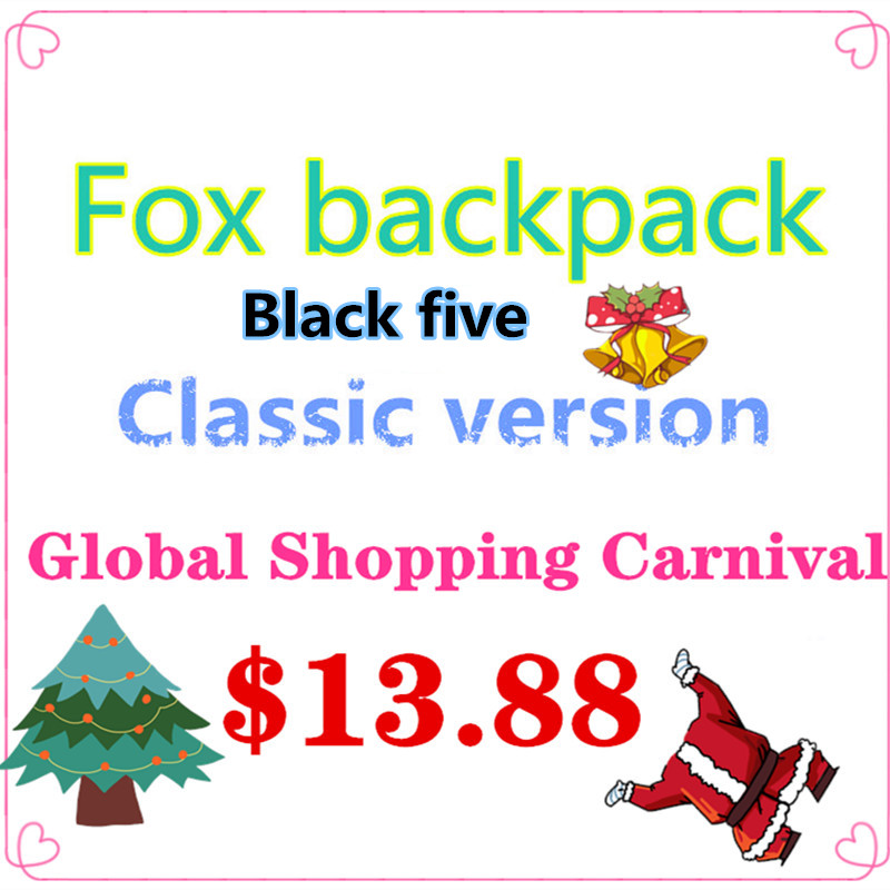 Classic Original brand Fox embroidery backpack young college students laptop bags outdoor travel hiking waterproof girl Mochilas