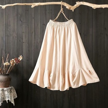 Japanese Vintage Plus Size Women Shorts Skirt Solid Color Retro Cotton Linen Wide Leg Shorts Mori Girl Casual High Waist Shorts casual style high waist solid color cotton blend skirt for women