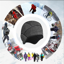 Cycling Hat Winter Thermal Fleece Ear Warm Windproof Outdoor Sports Bicycle Head Cap Skiing Running Riding Bike Cap Helmet Liner winter bicycle windproof motorcycle wind stopper face mask hat neck helmet cap thermal fleece balaclava hat for men