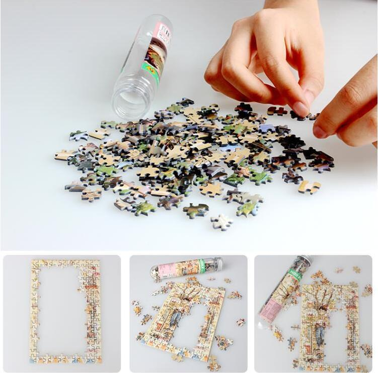 150 Pieces Tube Mini Paper Puzzles Game Toys for Children Adults Learning Education Brain Teaser Assemble Toy Games Jigsaw ZXH 3