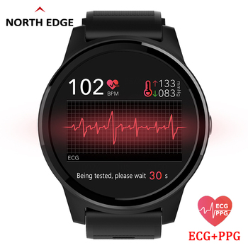 NORTH EDGE Smart PPG+ECG Blood Pressure Watches Fitness Tracker Heart Rate Monitor