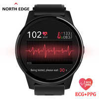 NORTH EDGE Smart PPG+ECG Blood Pressure Men Women Watches Fitness Tracker Heart Rate Monitor Pedometer Digital Wristwatches Hour