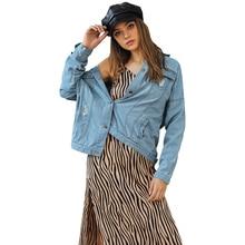 лучшая цена JYSS streetwear autumn denim coats women veste femme blue long sleeve single breasted coats women outwear denim coats 82103